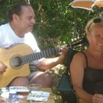 Being serenaded as we paint by Le Canal du Midi