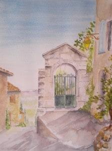 Gate in the village